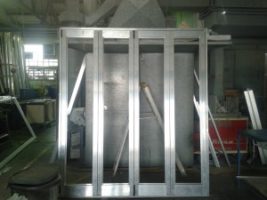Special Projects - Aluminium Hinge door.