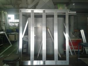 Special Projects - Aluminium Hinge door.